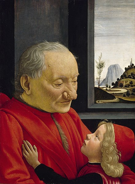 Domenico Ghirlandaio painting of An Old Man and his Grandson