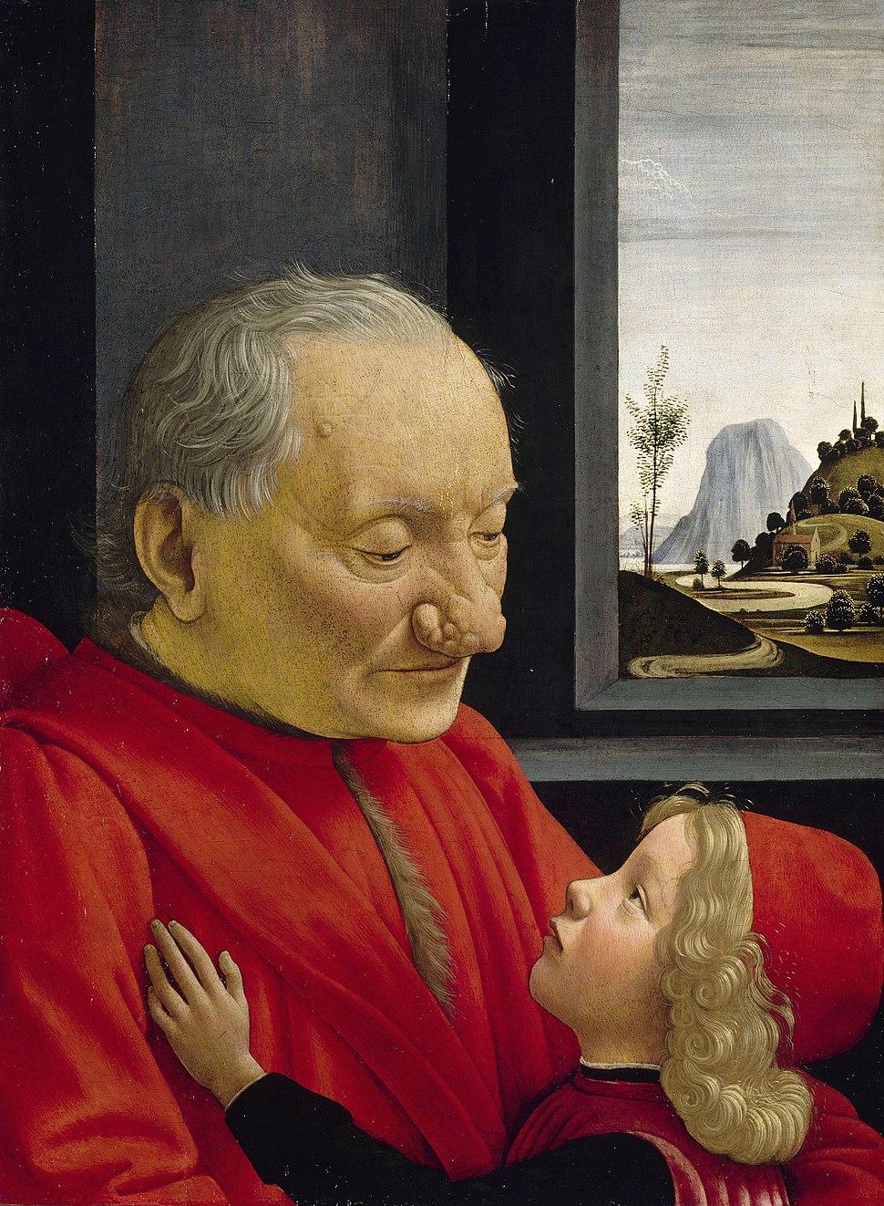 Domenico ghirlandaio, ritratto di nonno con nipote