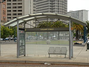 Don Chee Way and Steuart station - Don Chee Way and Steuart Station - outbound shelter, 2008
