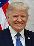 The incumbent president, Donald Trump