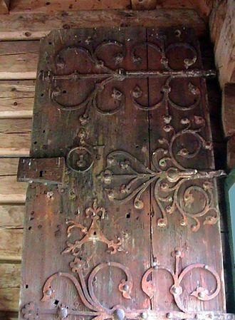 Audunborg - Image: Door from Ålhus kirke