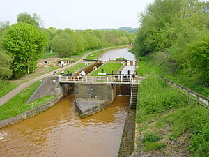 Trent and Mersey Canal - Image: Double Lock