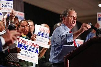 Doug Jones (politician) - Jones at a campaign rally in October 2017
