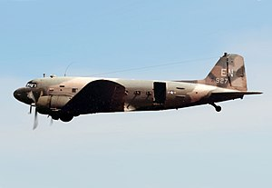 Douglas AC-47 Spooky - An AC-47D of the 4th Special Operations Squadron, over Nha Trang Air Base