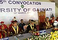 Dr. Jitendra Singh at the 25th Convocation of Gauhati University with Tarun Gogoi and P. B. Acharya.jpg