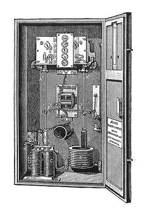 Hermann Aron - Dr Aron's electricity meter, as sold in Great Britain by GEC, from 1888