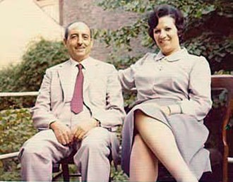 Fawzia Fahim - Dr. Fawzia Fahim with her husband Salah relaxing at a rented flat, London, 1976.