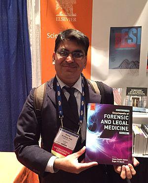 Kewal Krishan (forensic anthropologist) - Image: Dr Kewal Krishan attending American Academy of Forensic Sciences Conference in Las Vegas, February 2016