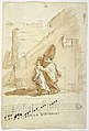 Drawing, Recto- Three Musicians in Front of the Albergo Della Pace, 1810, 1810 (CH 18113341).jpg