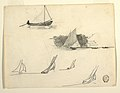 Drawing, Six Studies of Sailboats, possibly 1874 (CH 18175227).jpg