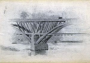 Girard Avenue Bridge - Image: Drawing Of Girard Avenue Bridge