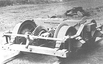 Climax locomotive - Truck with differential as proposed by Gilbert, which was later not used anymore.