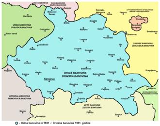 Drina Banovina - Drina Banovina in 1931