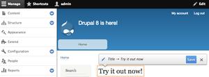 Drupal - Image: Drupal 8 quickedit