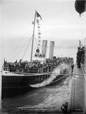 Wellesley College, New Zealand - s s Duchess on a weekend excursion to Nelson