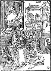 Frontespizio per le Lettere di san Girolamo, 1492