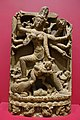 Durga Mahishasuramardini slaying the Buffalo Demon, Bengal, India, or Bangladesh, Pala dynasty, 1100s AD, phyllite - Dallas Museum of Art - DSC05056.jpg