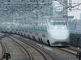 Asahi (train) - An E1 series on a Max Asahi service in June 2002