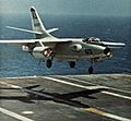EKA-3B of VAQ-135 landing on USS America (CVA-66) in 1971.jpg