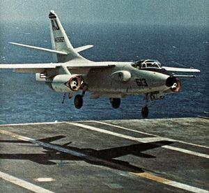 VAQ-135 - Image: EKA 3B of VAQ 135 landing on USS America (CVA 66) in 1971