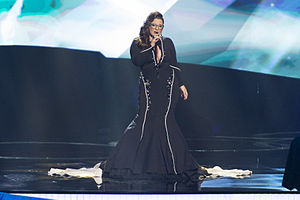 Israel in the Eurovision Song Contest 2013 - Moran Mazor at the second semi-final dress rehearsal in Malmö.