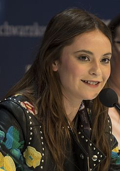 Francesca Michielin alla conferenza dell'Eurovision Song Contest 2016