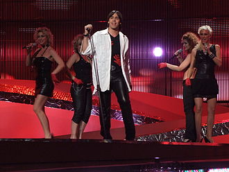 Montenegro in the Eurovision Song Contest - Image: ESC 2008 Montenegro Stefan Filipovic, 1st semifinal