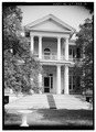 EXTERIOR, WEST FRONT - Coolspring, U.S. Routes 521 and 601, Camden, Kershaw County, SC HABS SC,28-CAMD.V,1-2.tif