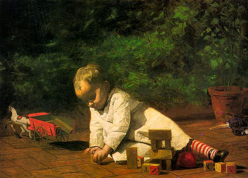 File:Eakins, Baby at Play 1876.jpg