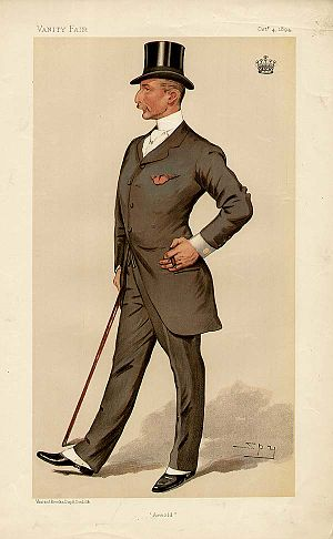 "Arnold Keppel, 8th Earl of Albemarle - ""Arnold"" The Earl of Albemarle as caricatured by Spy (Leslie Ward) in Vanity Fair, October 1894"