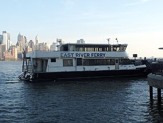 NYC Ferry - The East River Ferry in its former NY Waterway livery