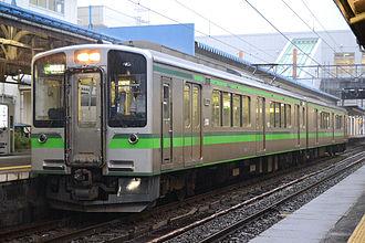E127 series - Echigo Tokimeki Railway ET127 series set V6 in JR East livery in June 2015