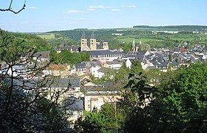 Echternach - Image: Echternach From Above Looking East