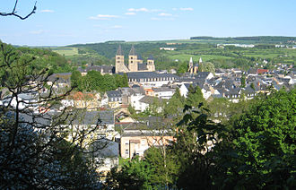 Echternach - Image: Echternach From Above Looking East