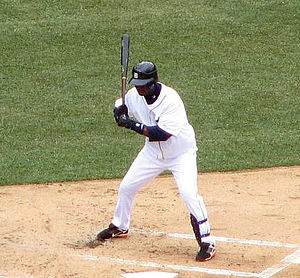 Édgar Rentería - Rentería batting for the Tigers on March 31, 2008.