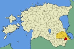 Orava Parish within Põlva County.