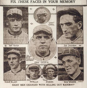 "Black Sox Scandal - The eight ""Chicago Black Sox"""