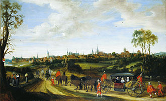 Peace of Westphalia - Dutch envoy Adriaan Pauw enters Münster around 1646 for the peace negotiations