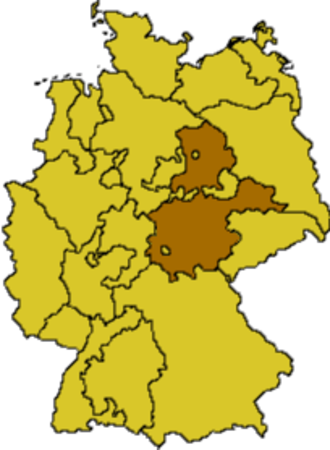 Evangelical Church in Central Germany - Area covered by the EKM as of 2009