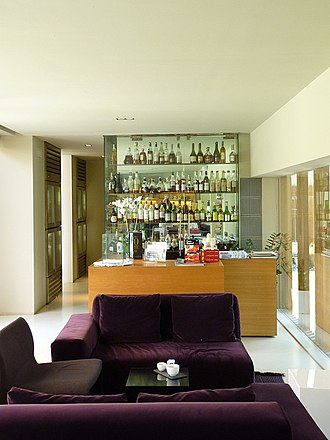 El Celler de Can Roca - The bar area of the restaurant in the present location