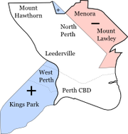 Map showing 2005 boundaries and changes at the 2007 redistribution.