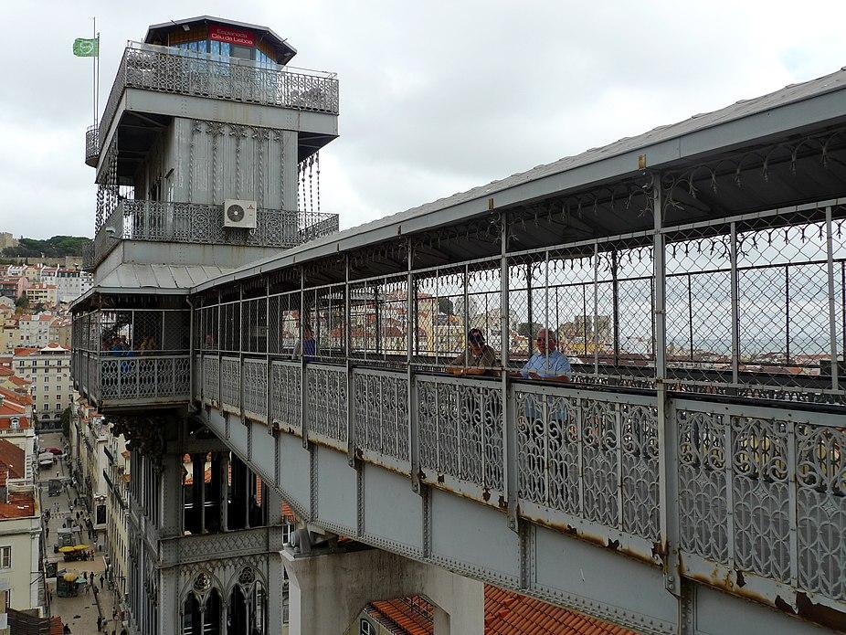 Elevador of Santa Justa platform