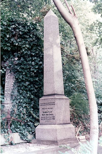 Eliot's grave in Highgate Cemetery