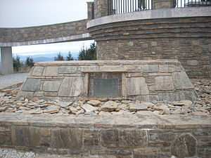 Elisha Mitchell - Tomb of Elisha Mitchell on the peak of Mount Mitchell