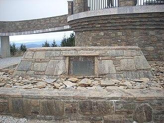 Elisha Mitchell - Tomb of Elisha Mitchell on the peak of Mount Mitchell