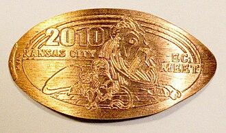 Elongated coin - An elongated coin