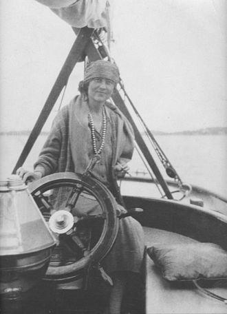 Elsie Clews Parsons - Parsons aboard her schooner, the Malabar V.