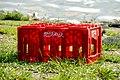 Empty Coca-Cola case, Mahamaya Lake (01).jpg