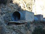 End of Thistle Dam spillway pipe, Jul 15.jpg
