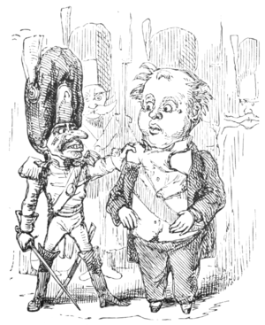 English Caricaturists, 1893 - Prince Bulbo Seized by the Guards.png
